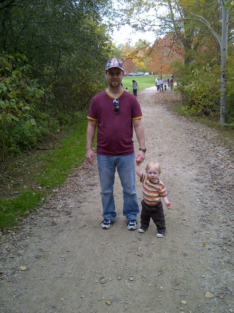 Quin & Daddy at Waterloo Park