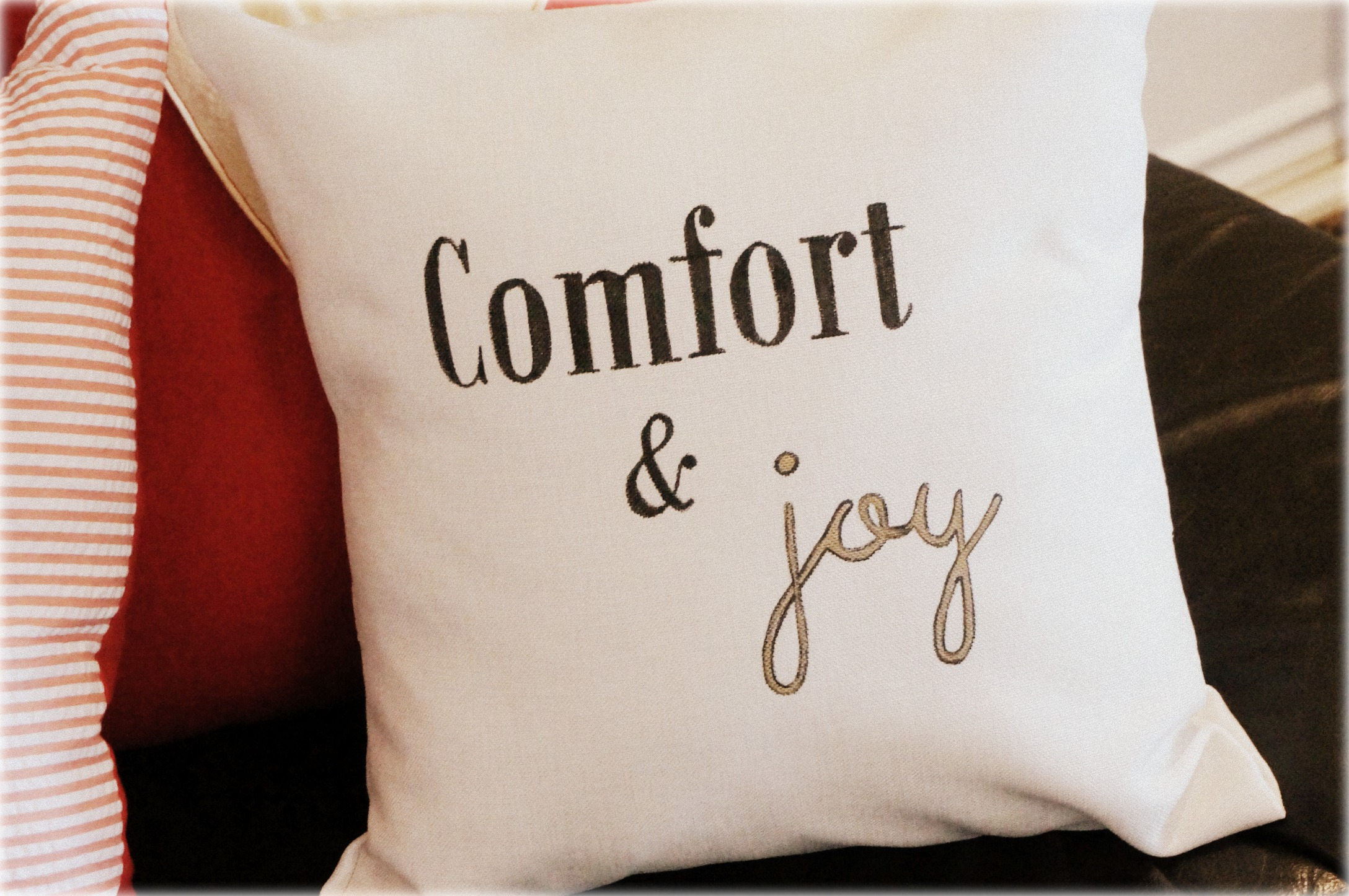 Christmas Hand-Printed Pillows: The Generous Host